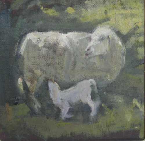 Suckling Ewe