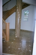 Custom cut travertine entry to a Deltec waterfront home in Pinellas County, Florida. (thumbnail)