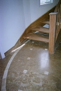 Close-up of Stone Mart's travertine installed in a Deltec beachfront home in Florida. (thumbnail)