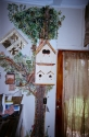Faux finished, life sized oak tree on laundry room wall. (thumbnail)