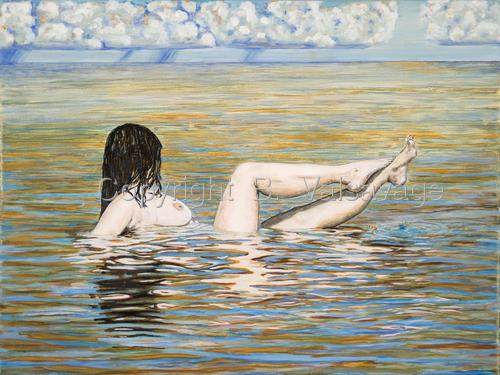 Nude in Ocean