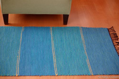 Blue Rug by Tarja Cockell
