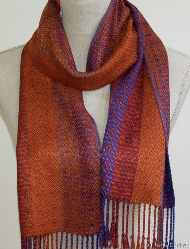 Woven sienna tone scarf