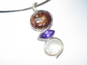 Agate Amethyst Opal Pendant (large view)