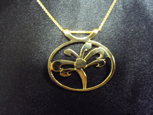 14kt gold dragonfly necklace