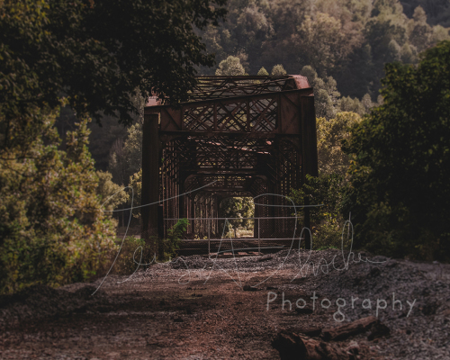 Abandoned Train Bridge by Terry Austin Thacker