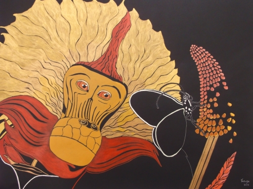 FULL OF WONDERMENT,Acrylic Paint