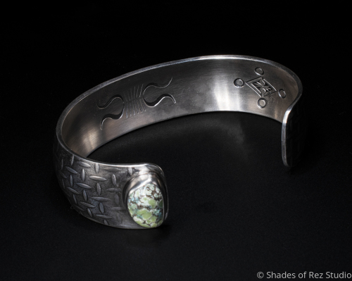 Stamped and Textured Synclastic Cuff