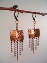 Olde World Copper 'n Chain Earrings (thumbnail)
