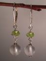 Twist of lime Silver earrings (thumbnail)
