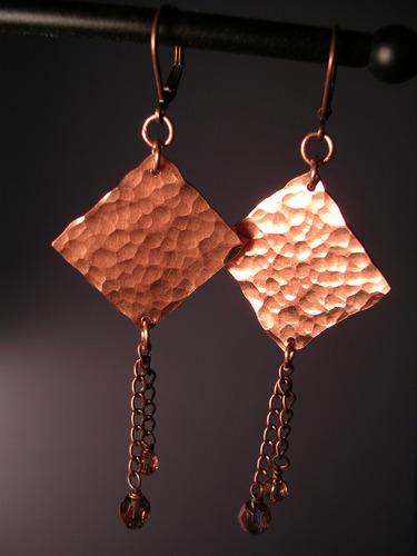 Copper Earrings 1