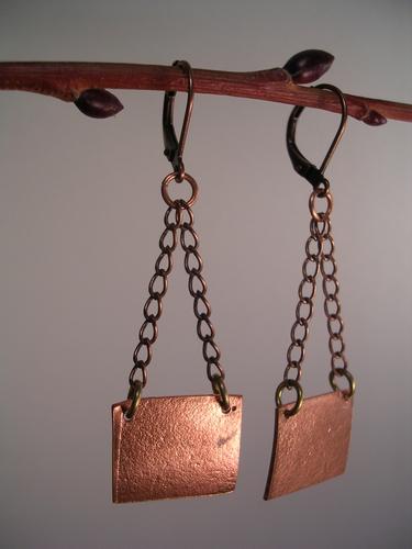 Suspension Copper Earrings