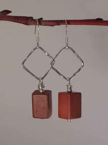 Squares to Rectangles Sterling Silver earrings