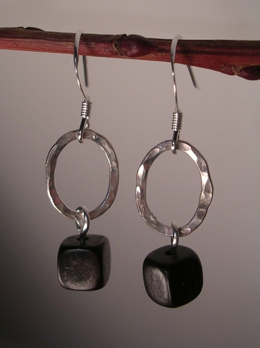 Ovalisque drop Sterling Silver earrings