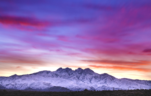 Four Peaks Sunrise by Tony Cottrell Photography Prints