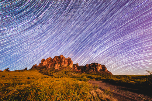 Superstition Star Trails 2 by Tony Cottrell