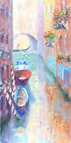 SOLD  Venice, Canal Reflections by Terry Ouimet Fine Art