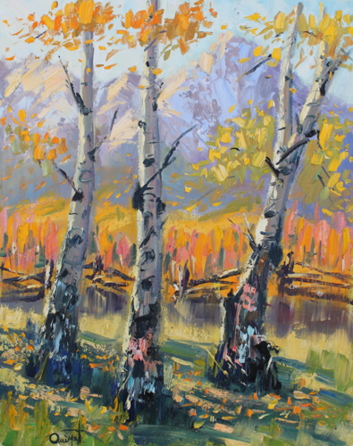 SOLD Aspens in the San Juans by Terry Ouimet Fine Art