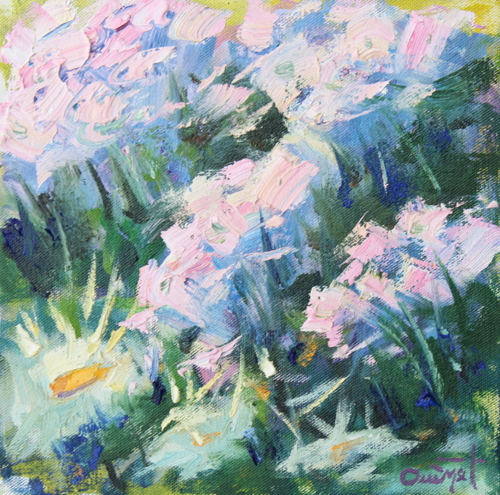 SOLD-Lavender and Daisies by Terry Ouimet Fine Art