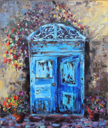 SOLD- Blue Doors, Italy (Prints available, 1 of 6)