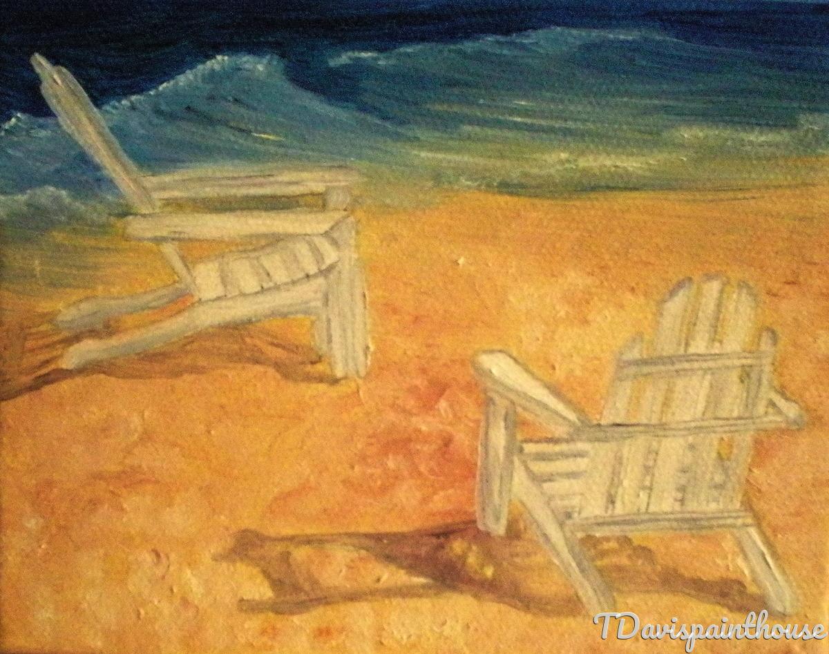 "Original Seascape 4"" x 5"" Oil Painting  (large view)"