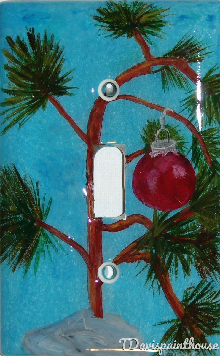 Charlie Brown Christmas Tree / Holiday / Single switchplate (large view)
