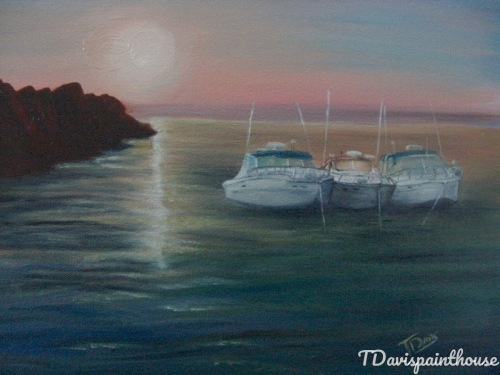 Custom Painting of your BOAT on Canvas by Artist TDavispainthouse
