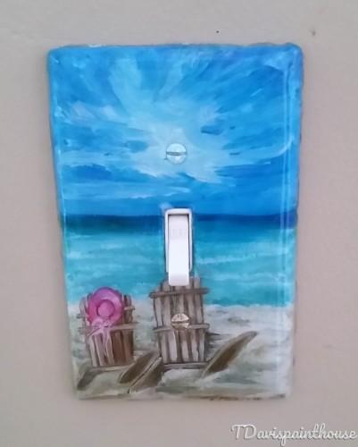 Beachside Nautical handpainted switchplates