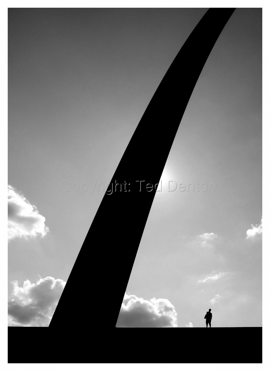black & white photography, St. Louis, Arch (large view)