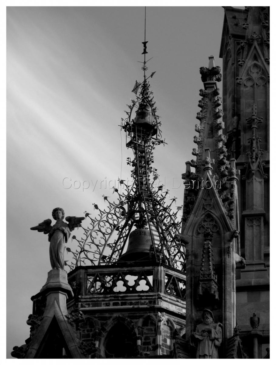 black & white photography, Barcelona, Spain, Cathedral (large view)