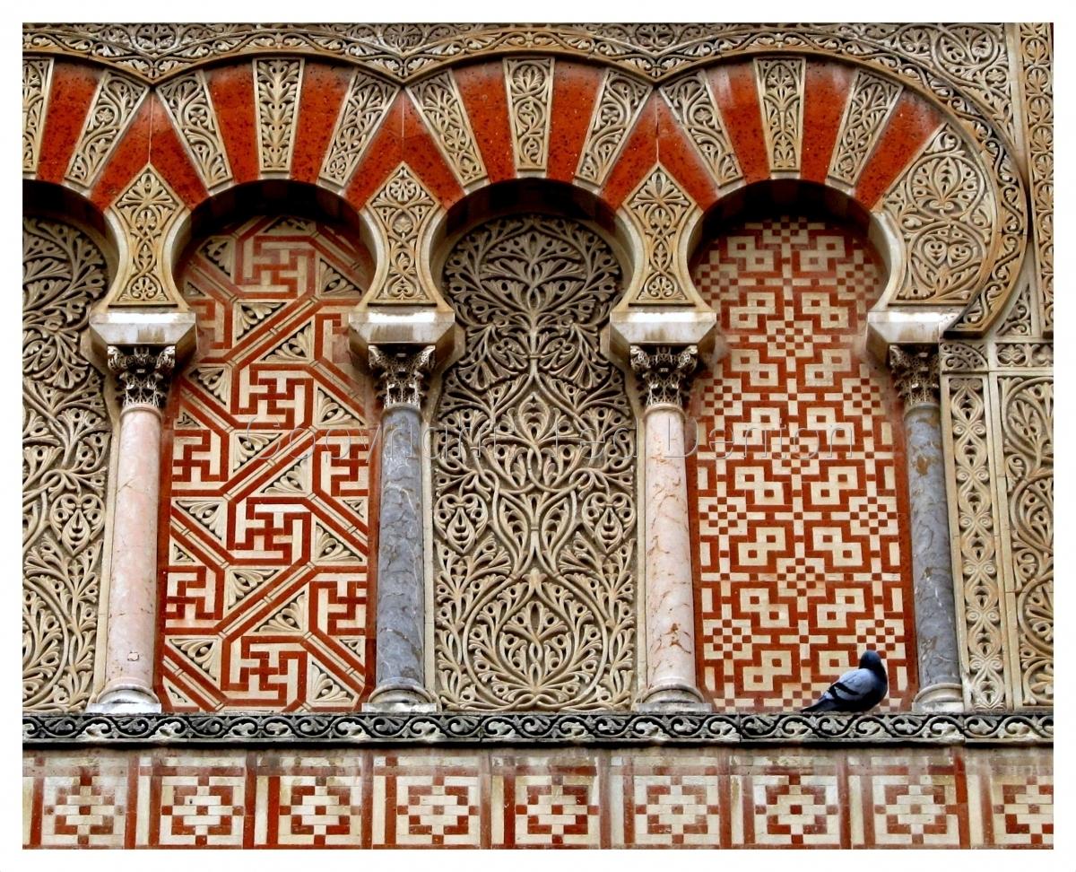 Color Photograph, Mezquita, Cordoba, Spain (large view)