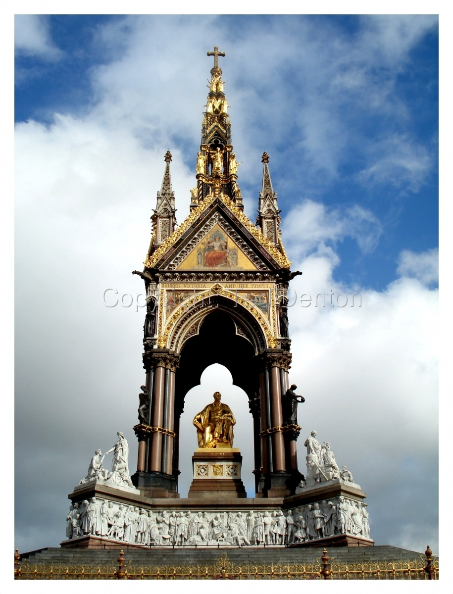 Color Photograph, London, England, Albert Memorial (large view)