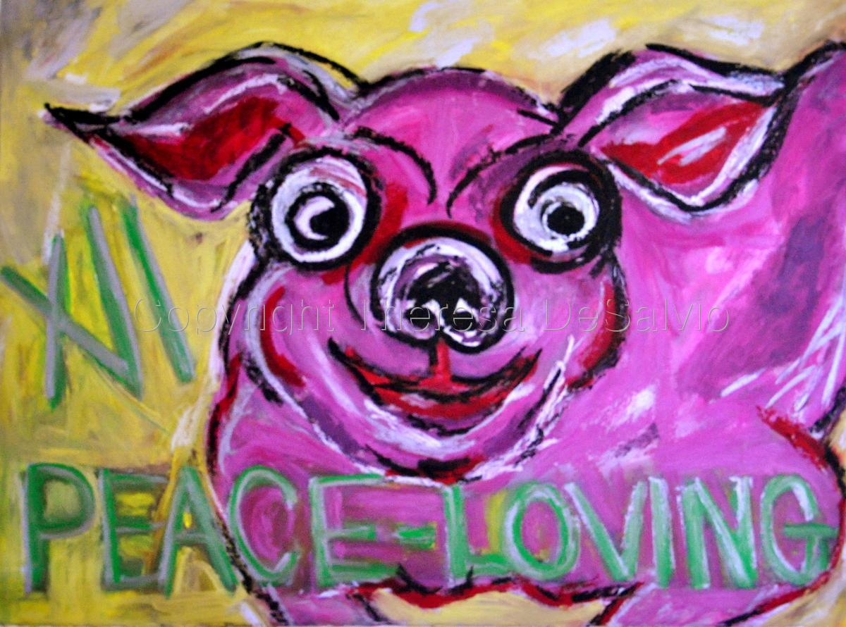 Pig XII - Peace-Loving (large view)