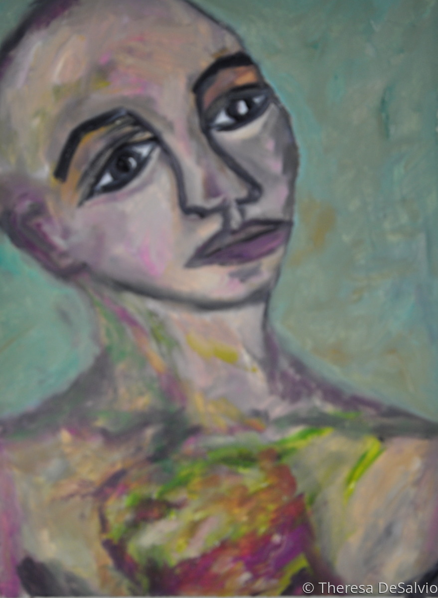 Expressionist portrait of person with mass (large view)