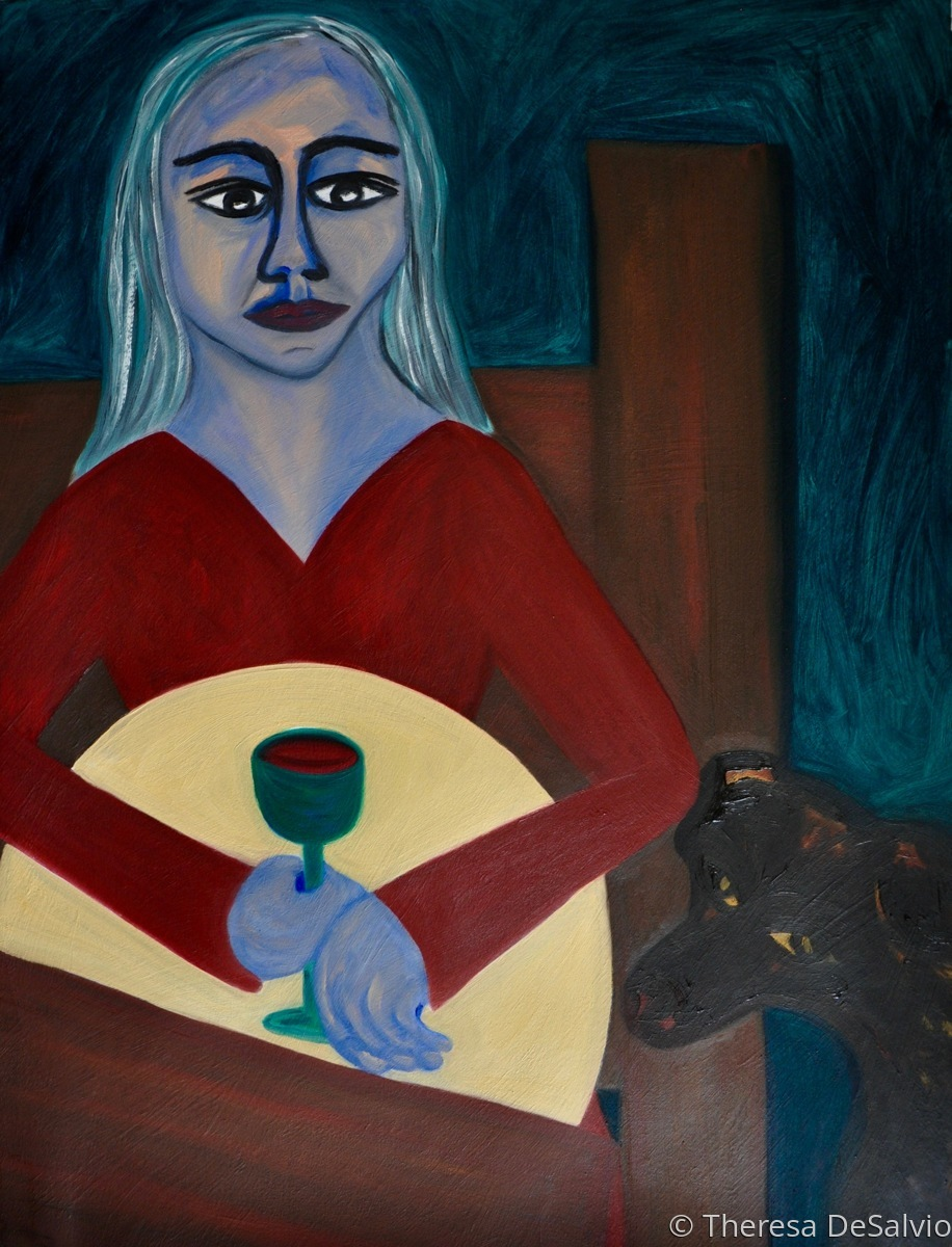 The Blue Fairy with Wine Glass (large view)