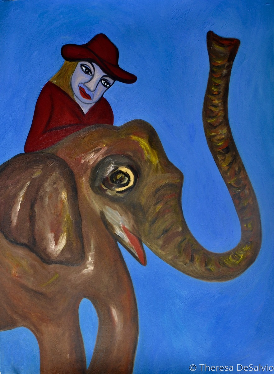 The Blue Fairy Rides an Elephant (large view)
