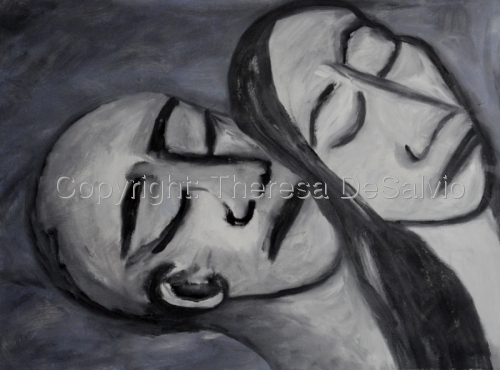 heads of two people close together sleeping (large view)