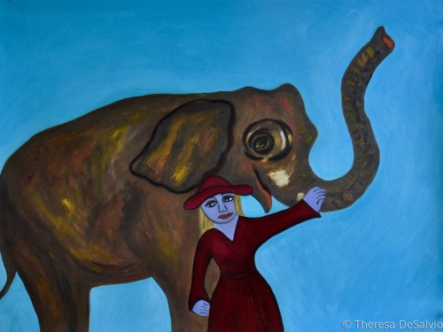 The Blue Fairy Meets an Elephant  (large view)