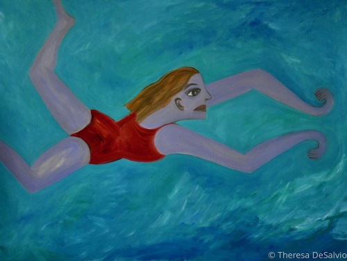 The Blue Fairy Swims in Ancient Waters (large view)