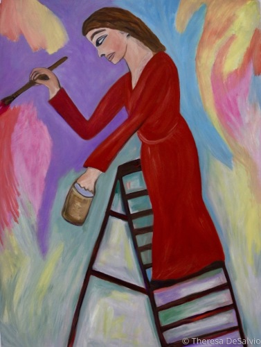 Painting a Rainbow by Theresa DeSalvio