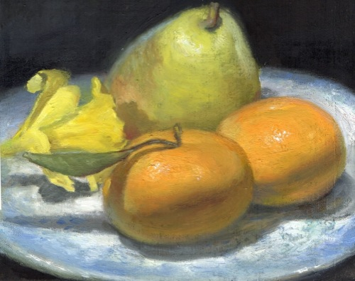 Tangerines, Pear and Daffodil