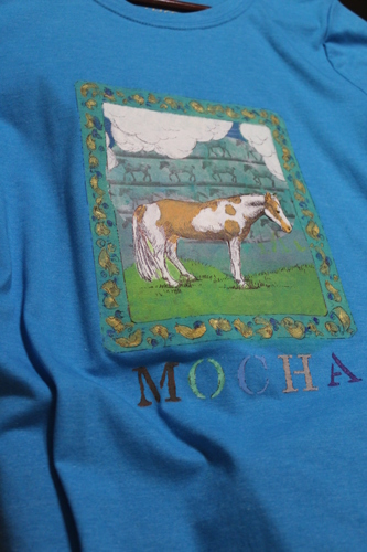 Hand-Painted T-Shirt (Horse 2 - detail)
