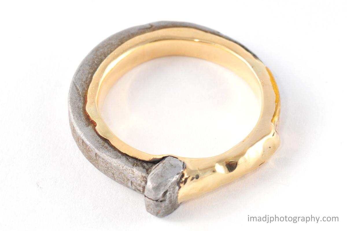 Japanese Iron Nail Gold Ring