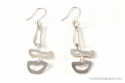 Free Form design Silver Earrings (thumbnail)