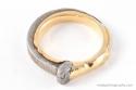 Japanese Iron Nail Gold Ring (thumbnail)