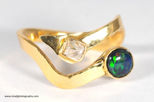"""Fire and Ice"" Gold Ring"
