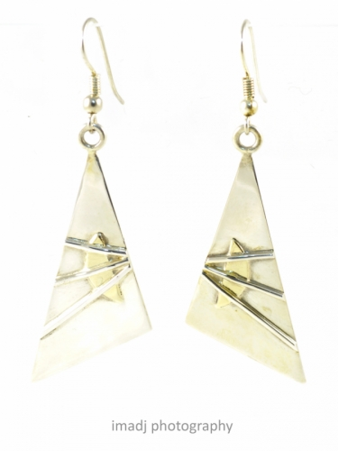 Silver and Gold Layered Earrings