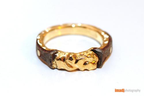 Men's Nail Gold ring
