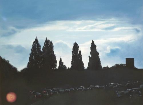 ironic romantic landscape by Teresa Lawler