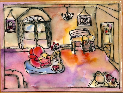 Interior Watercolor  (large view)